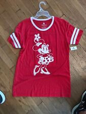 Disney Parks Red Minnie Mouse Jersey Shirt Nwt Sz Xl