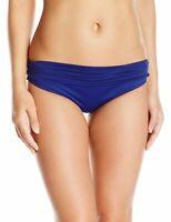 La Blanca Women Swimwear Blue Size 8 Shirred Band Hipster Bikini Bottom $57- 758