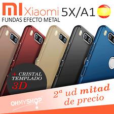 Funda Xiaomi Mi A1 Carcasa Rígida Dura Efecto Metal Acabado Brillo
