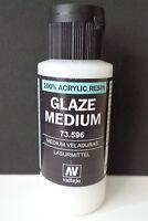 (9,98€/100ml) Vallejo 73596, Glaze Medium / Lasurmittel, 60 ml, Neu