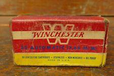 Vintage 1950's Winchester 32 (7.65mm) Automatic 71 Grain Ammo Box