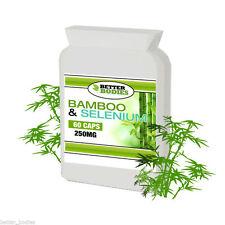 BAMBOO Silica 415mg include il Selenio & Biotina 60 CAPSULA BOTTIGLIA meglio corpi