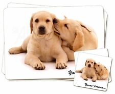 Yellow Labrador Dog 'Yours Forever' Twin 2x Placemats+2x Coasters Set , AD-L61PC