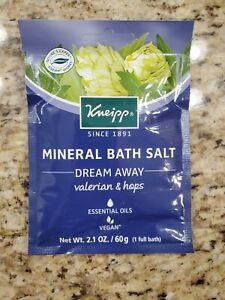 Kneipp Mineral Bath Salt Vegan Dream Away Valerian & Hops 2.1 OZ *NEW*