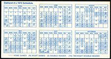 Oakland Athletics *Rare* 1972 Home Pocket Schedule Vtg Mlb Promo A's guide