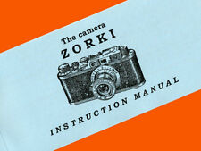 ENGLISH MANUAL for ZORKI-1 camera Russian Leica-II copy INSTRUCTION BOOKLET