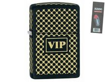 Zippo 28531 vip very important person black matte Lighter + FLINT PACK