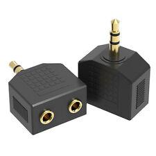 Audio 3.5mm Jack Plug Headphone Y Splitter 1 Male to 2 Female AUX Adapter