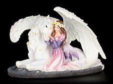Elfen Figur - Prinzessin Amalia mit Pegasus - Deko Statue Fantasy Pferd