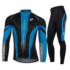 Men's Cycling Jersey Suits Bicycle Clothing Long Sleeve Shirts Bike Pants Sets