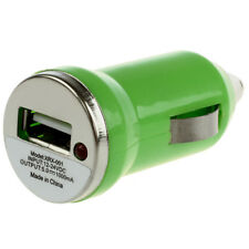 1X(Mini USB Car Charger Vehicle Power Adapter - Green for Apple iPhone 4 4G S8M3