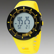 Womens Yellow OHSEN Digital Quartz LED Light For Young People Band Wrist Watch