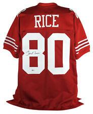 49ers Jerry Rice Auténtico Firmado Autografiado Bas fue testigo de Jersey Rojo