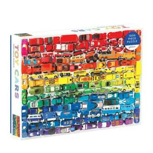 Julie Seabrook ~ Rainbow Toy Cars 1000 Piece Puzzle by Galison
