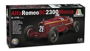 Alfa Romeo 8C 2300 Monza Le Mans  1:12 Model Kit Bausatz Italeri 4706