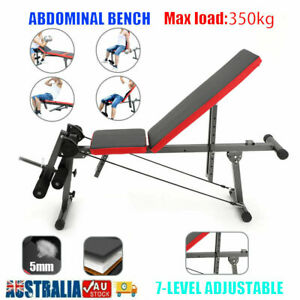 Adjustable New Dumbbell Weight Bench Press Sit up Bench Fitness Incline Home Gym