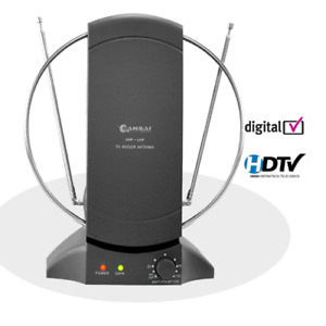 Sansai ATN228C Amplified Indoor TV Antenna with Adjustable Gain Control