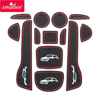 Anti-Slip Gate Slot Mat for NISSAN juke 2013 2014 2015 2016 Accessories Non-Slip