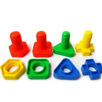 40PCS 3D COLORFUL SCREW NUTS BOLTS BUILDING PUZZLE GAME INTELLIGENT KIDS TOY HOT