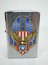 "ZIPPO ""American Eagle Shield"" - Chrome Rozès-NUOVO & OVP - #1035"