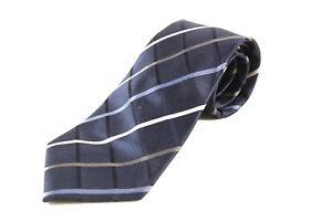 Donald Trump Signature Collection Blue White Plaid President Luxury Fashion Tie