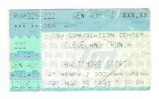 CLEVELAND CRUNCH vs BALTIMORE SPIRIT 1994 Indoor Soccer League game ticket stub