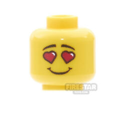LEGO Minifigure Custom Printed Head - Valentines In Love - Male