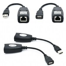 USB Extension Ethernet Rj45 Cat5e/6 Cable LAN Adapter Extender Over Repeater