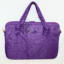 "MARC JACOBS M3112644 Padded 15"" Soft Laptop Bag Case Purple Quilted Nylon"