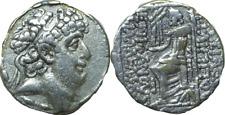 93-83 BC Syria Seleucid Kingdom Silver Tetradrachm F+ Philip Philadelphos