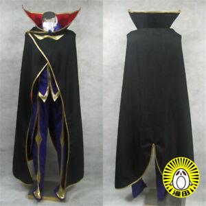 NEW Code Geass Lelouch Zero Cosplay Costume
