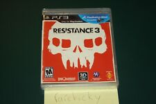 Resistance 3 (Playstation 3 PS3) NEW SEALED BLACK LABEL Y-FOLD MINT!