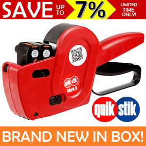 NEW QUIKSTIK Date Gun  Mark II Double Line Two Lines Labeller + 3 Labels 48305