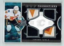 12-13 UD The Cup Foundations  Jarome Iginla  10/10  Last Card  Quad Patches