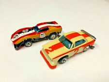 1970's Slot Cars Sharp Corvette & Bmw Racer H-O Lionel Slotless Slot Car