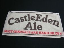 Castle Eden Ale Most originals are hand drawn Beer Bar Towel ~ Htf ~ 6782