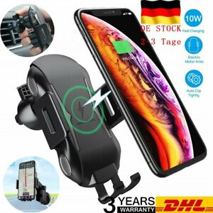 Qi Auto KFZ Handy Halterung Induktions Ladegerät Clamping Car Charger DHL 2021