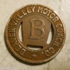 Beaver Valley Motor Coach Co. (Beaver Falls, Pennsylvania) transit token - PA65S