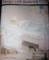 UNCUT Vintage Butterick SEWING Pattern 6549 CHERI L STROLE Nursery Items FF OOP
