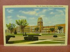 Old Postcard MI Lansing J.W. Sexton High School