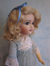 Lettie Light or Dark Blonde mohair wig for antique French/ German doll size 10