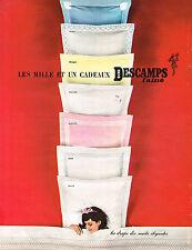 PUBLICITE ADVERTISING  1963   DESCAMPS  draps