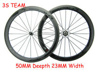 50mm Carbon Bike/Bicycle Wheels Road Track Cyclocross Hub 700C 23mm Width