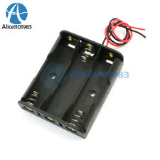 5PCS Plastic Battery Storage Case Box Holder For 3 X AA 3xAA 4.5V with wire lead
