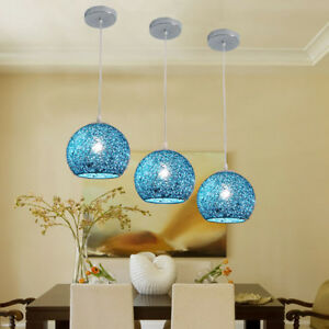 Kitchen Pendant Light Bedroom Ceiling Lights Hotel Lamp Blue Chandelier Lighting