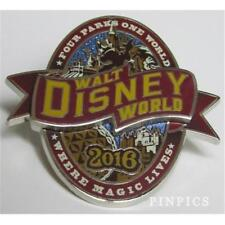 2016 WDW FOUR PARKS ONE WORLD- WHERE MAGIC LIVES Disney PIN 113888