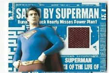 SUPERMAN RETURNS; SUPERMAN'S CAPE COSTUME CARD  BY TOPPS SELECT /CHOOSE