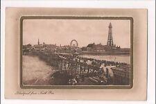 L@@K  Blackpool from North Pier 1900's ? Raphael Tuck Postcard