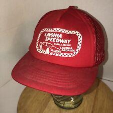 VTG LAVONIA SPEEDWAY 80s K-Products Asphalt Georgia Red Trucker Hat Cap Snapback