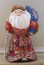 Matroschka.Babuschka.Weihnachtsfigur!Weihnachtsmann!Schöne Miniatur!HANDGEMALT!!